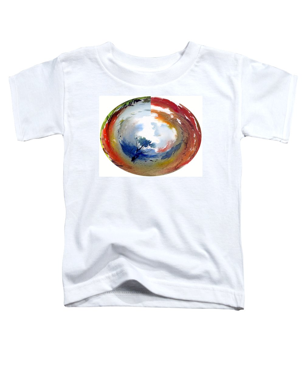 Landscape Water Color Watercolor Digital Mixed Media Toddler T-Shirt featuring the painting Universe by Anil Nene