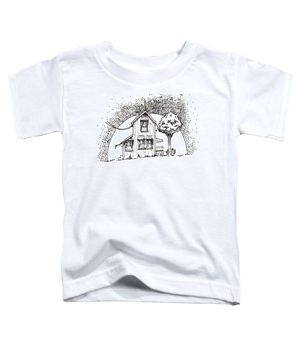 House Toddler T-Shirt featuring the drawing Untitled by Tobey Anderson