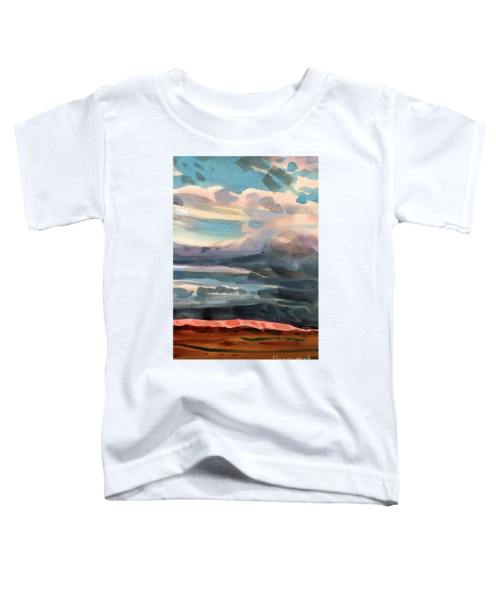 Western Landscape Toddler T-Shirt featuring the painting Utah Skyline by Donald Maier