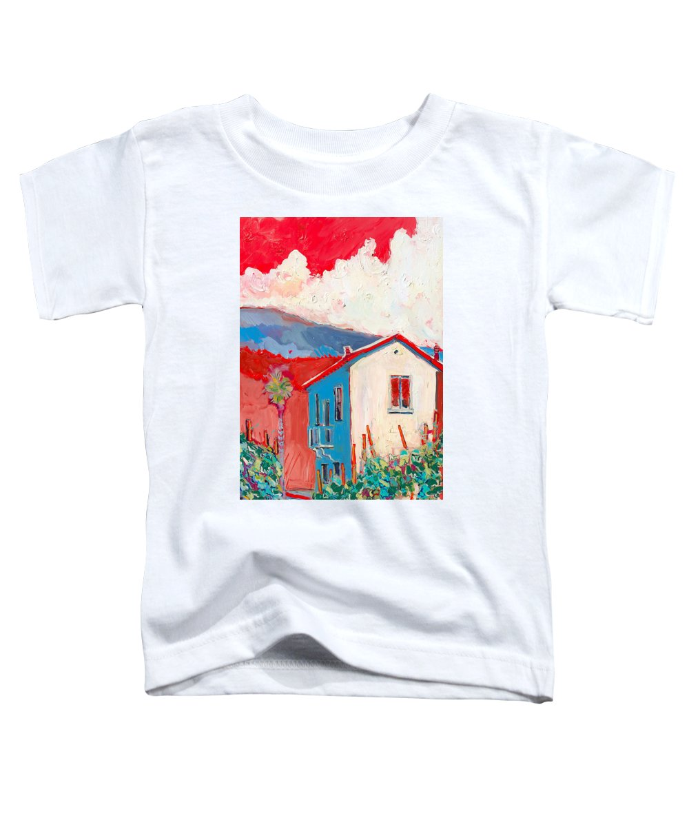 Tuscany Toddler T-Shirt featuring the painting Vecchio Casa by Kurt Hausmann