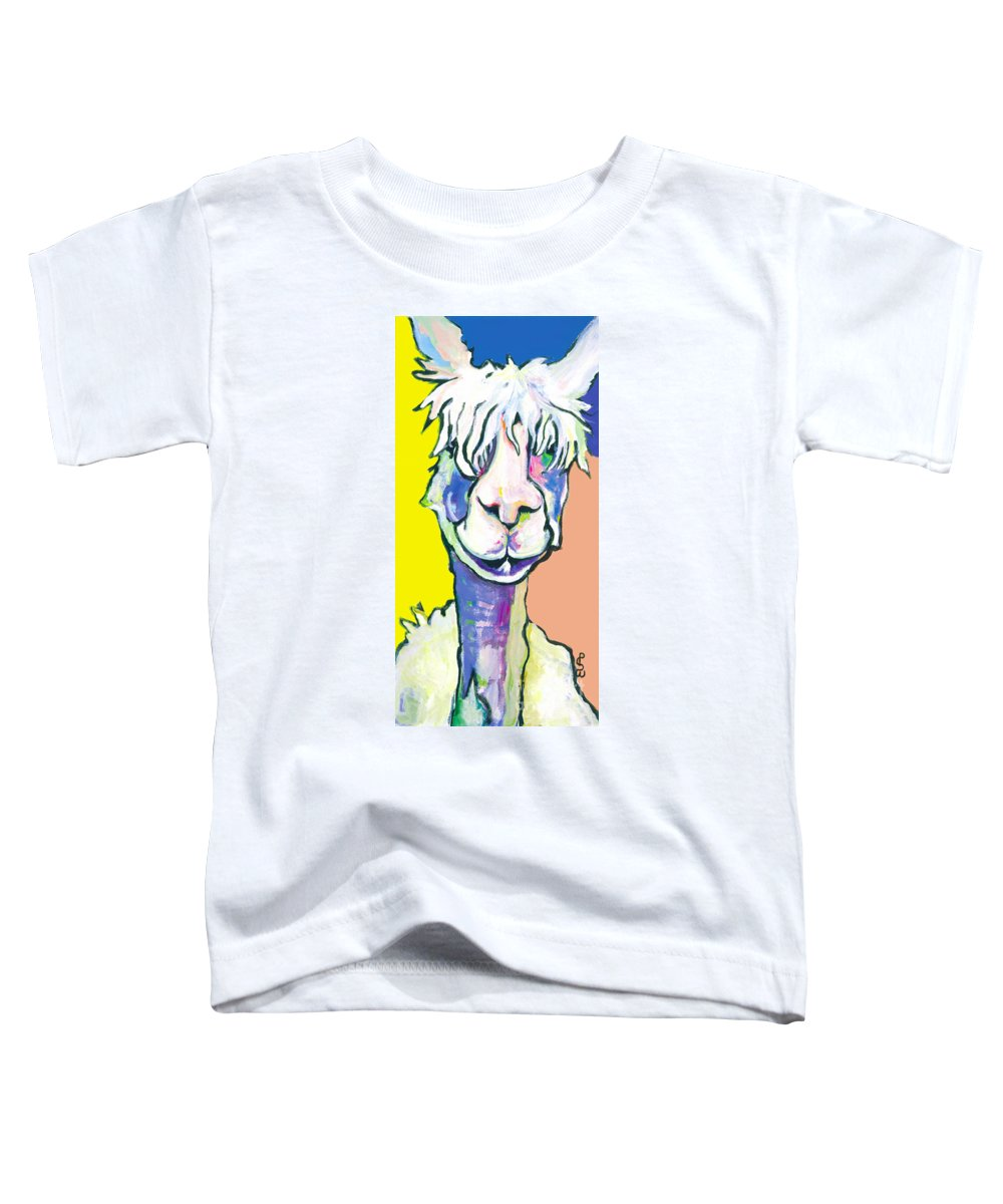 Mountain Animal Toddler T-Shirt featuring the painting Veronica by Pat Saunders-White
