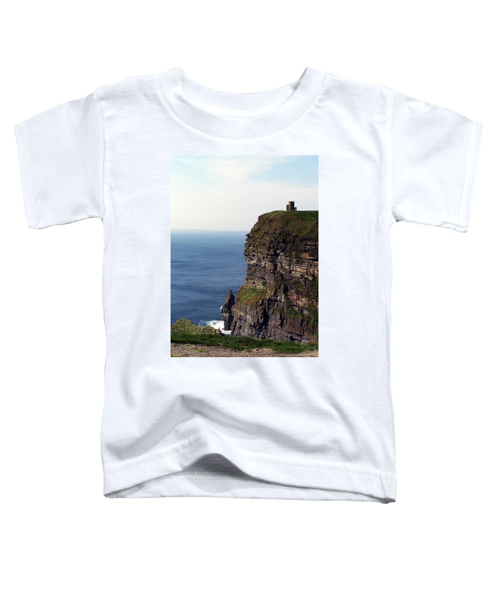 Irish Toddler T-Shirt featuring the photograph View Of Aran Islands And Cliffs Of Moher County Clare Ireland by Teresa Mucha