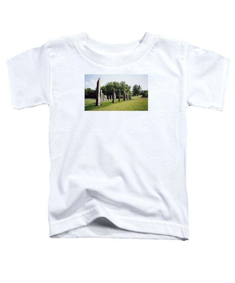 Historic Sculpture From 1999 Toddler T-Shirt featuring the sculpture Vinland by Jarle Rosseland