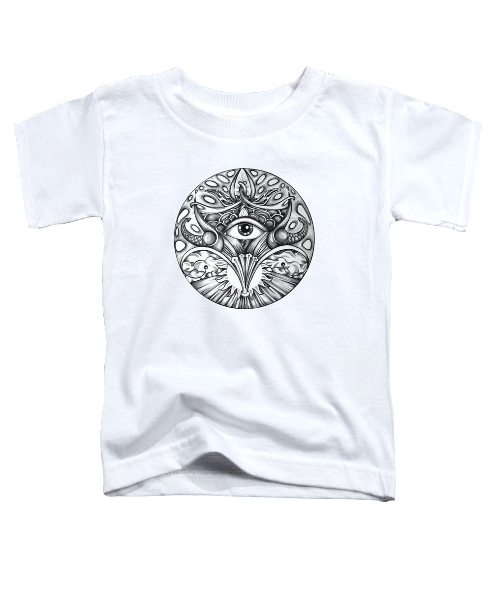 Eye Toddler T-Shirt featuring the drawing Vision by Shadia Derbyshire