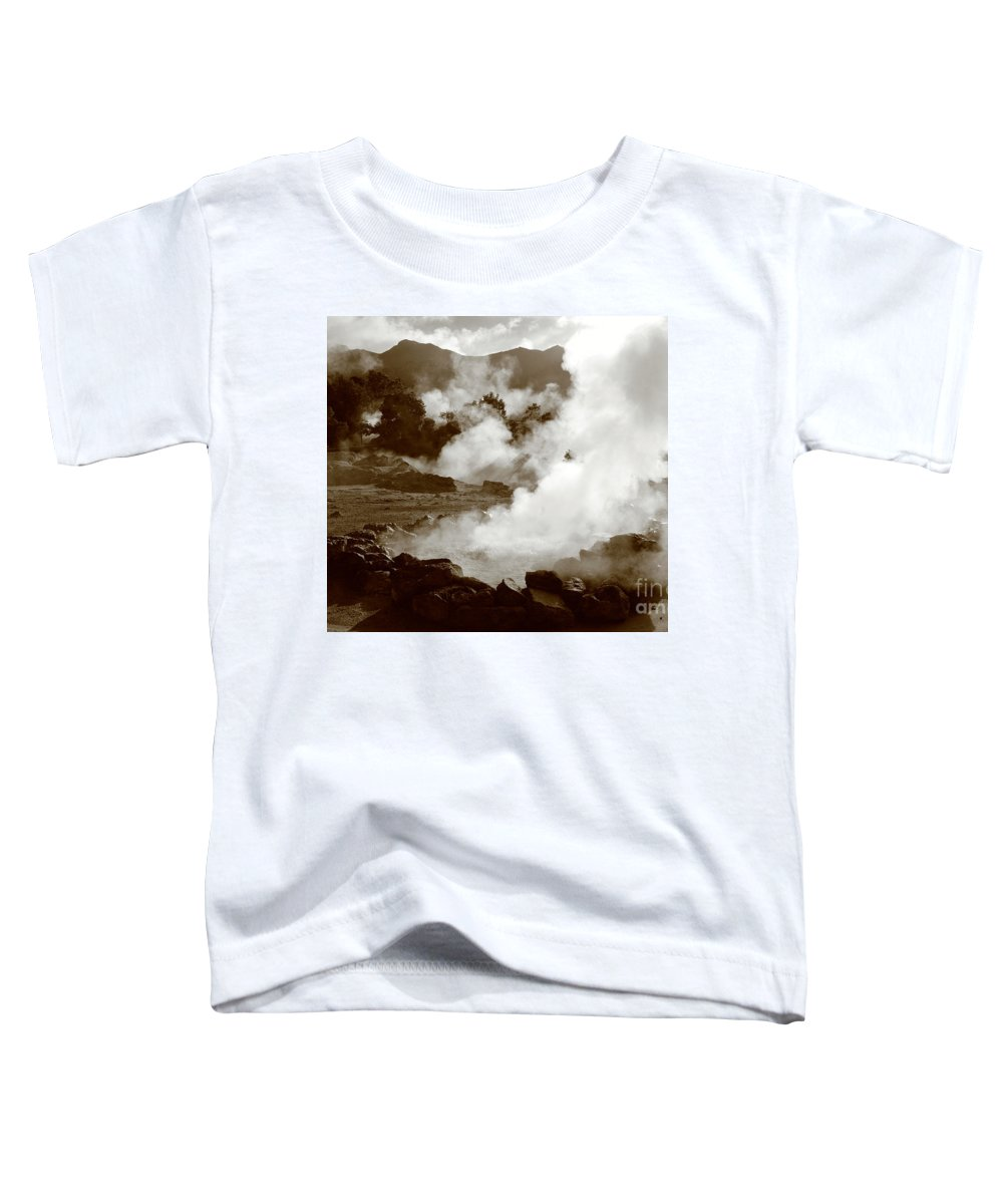 Azores Toddler T-Shirt featuring the photograph Volcanic Steam by Gaspar Avila