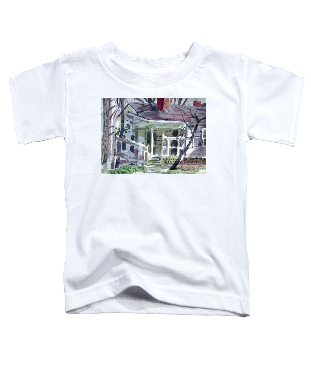 Wallis House Toddler T-Shirt featuring the painting Wallis House by Donald Maier