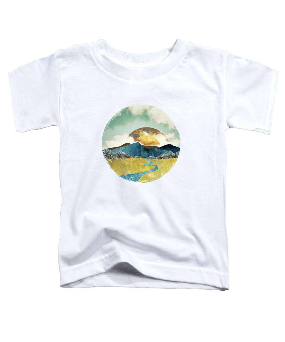 Mountains Toddler T-Shirt featuring the digital art Wanderlust by Katherine Smit