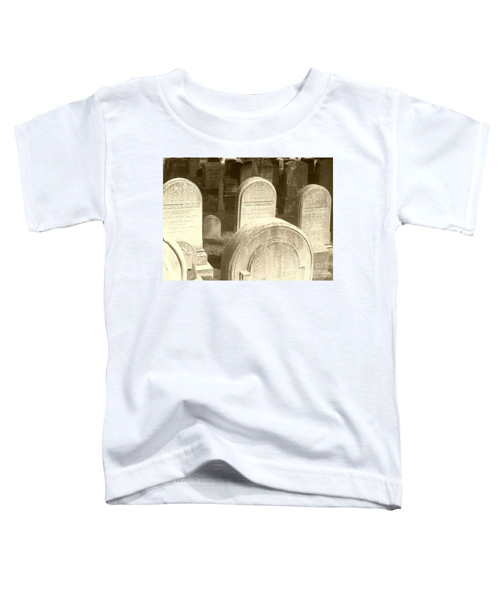 Cemetery Toddler T-Shirt featuring the photograph Welcome by Debbi Granruth