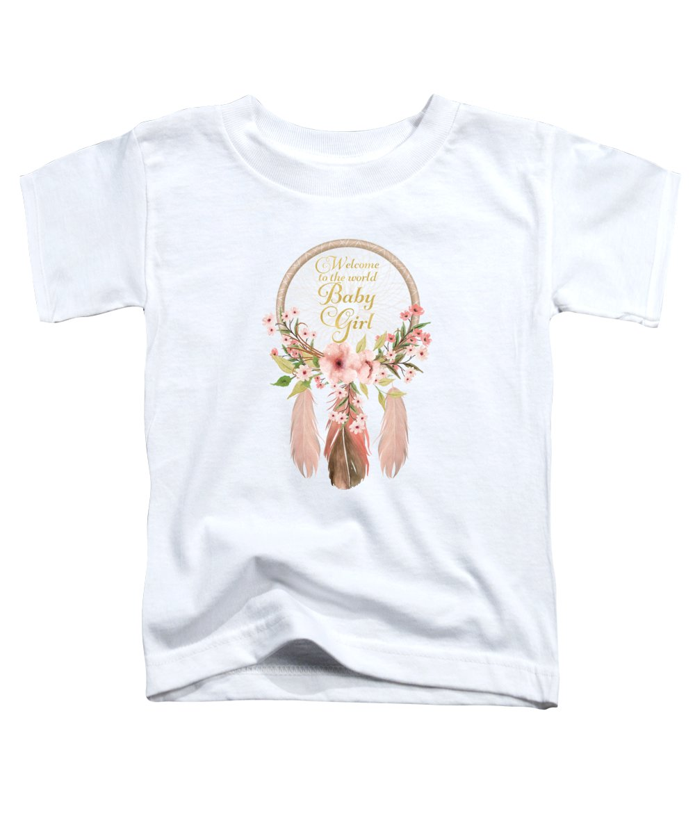 Pink Flowers Toddler T-Shirts