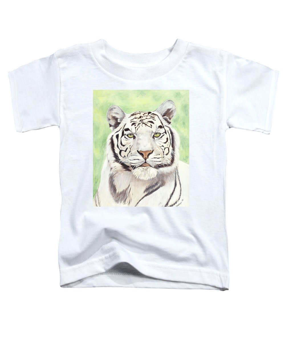 Tiger Toddler T-Shirt featuring the painting White Silence by Shawn Stallings