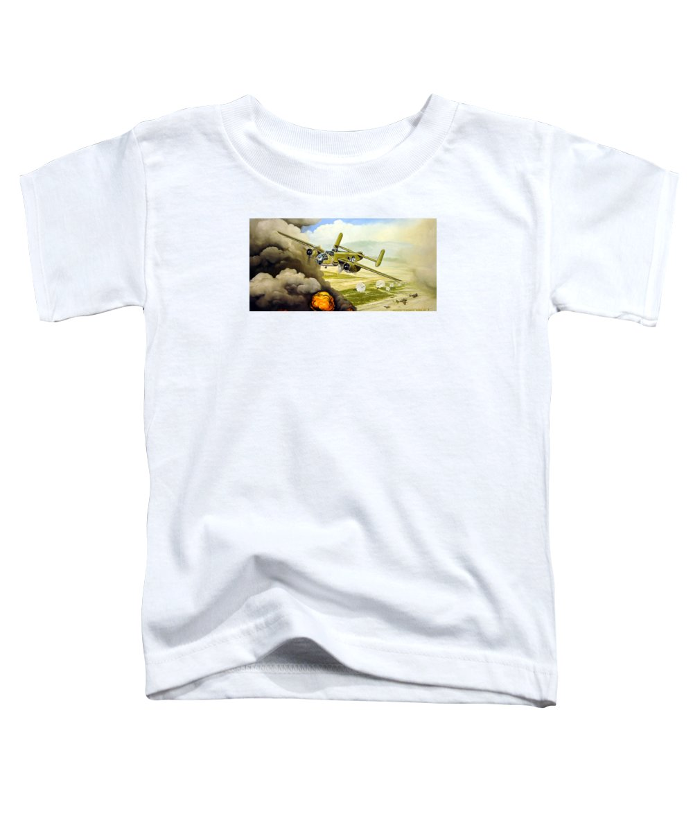 Aviation Toddler T-Shirt featuring the painting Wild Cargo by Marc Stewart