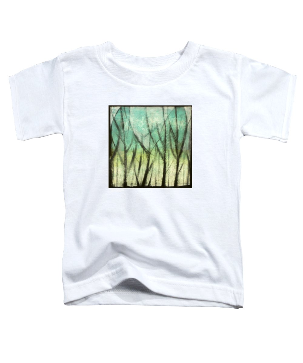 Trees Toddler T-Shirt featuring the painting Winter Into Spring by Tim Nyberg