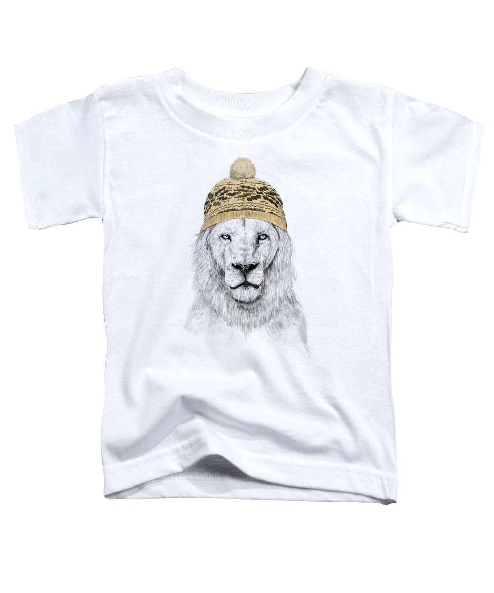 Lion Toddler T-Shirt featuring the mixed media Winter is coming by Balazs Solti