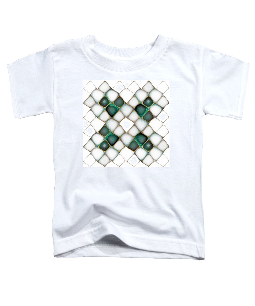 Digital Art Toddler T-Shirt featuring the digital art X Marks The Spot by Amanda Moore