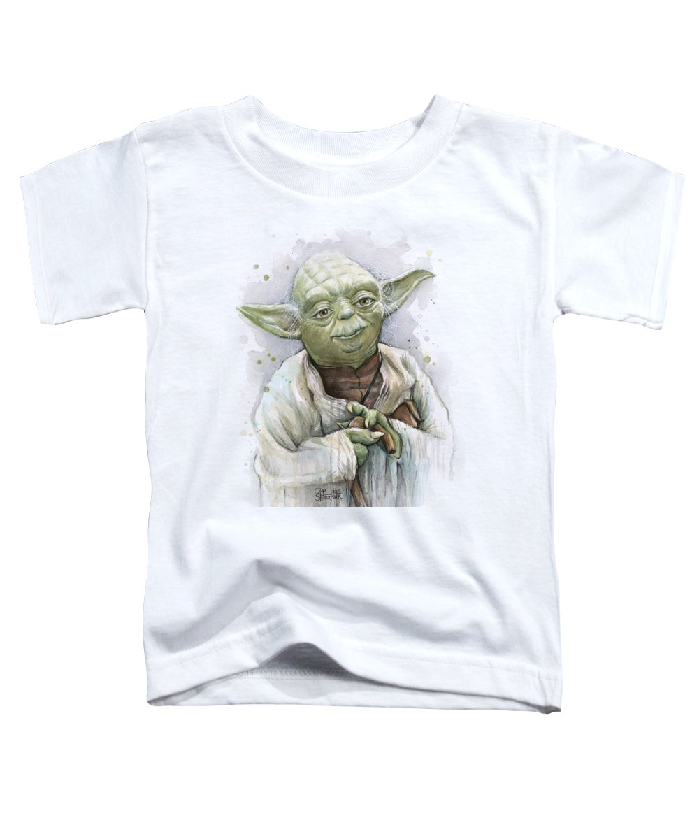 Yoda Toddler T-Shirt featuring the painting Yoda by Olga Shvartsur