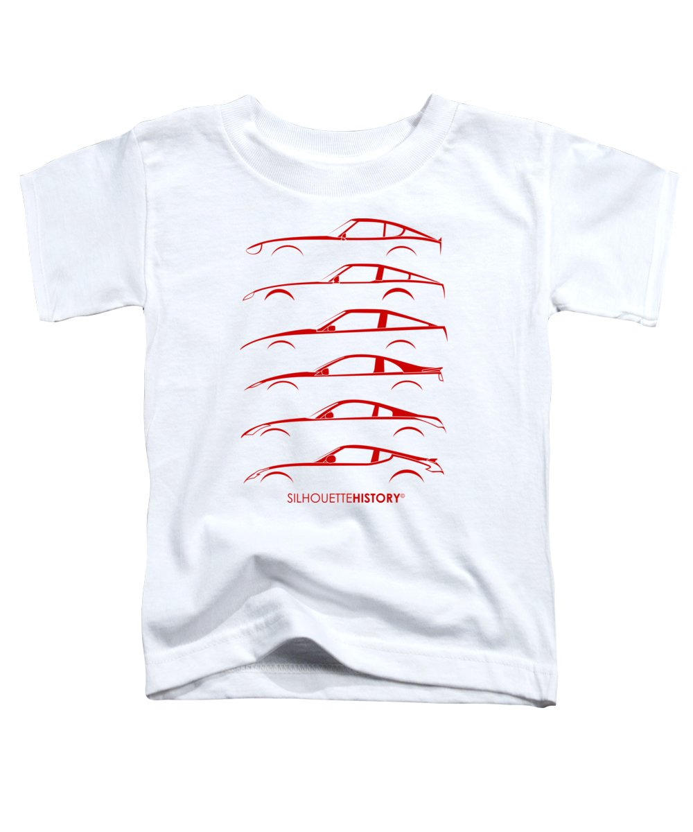 Sports Car Toddler T-Shirt featuring the digital art Zee Car Silhouettehistory by Gabor Vida