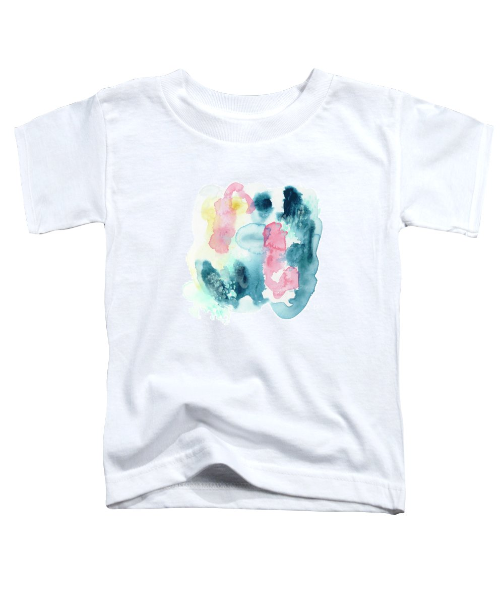 Abstract Toddler T-Shirt featuring the painting Intrigue IIi by June Erica Vess