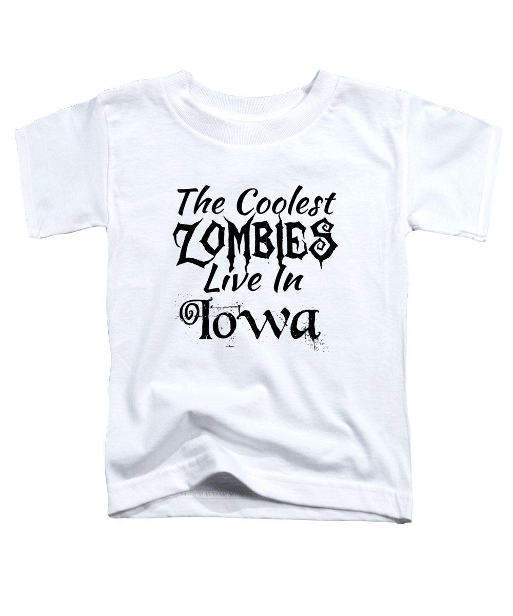 Clown Toddler T-Shirt featuring the digital art Iowathe Coolest Zombies by Kaylin Watchorn