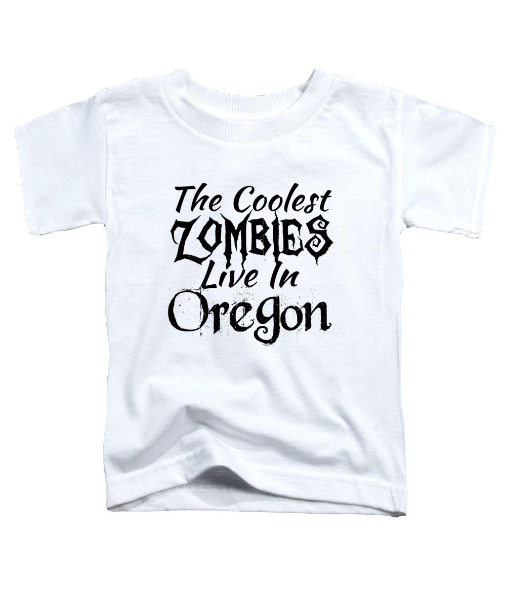 Clown Toddler T-Shirt featuring the digital art Oregon The Coolest Zombies by Kaylin Watchorn