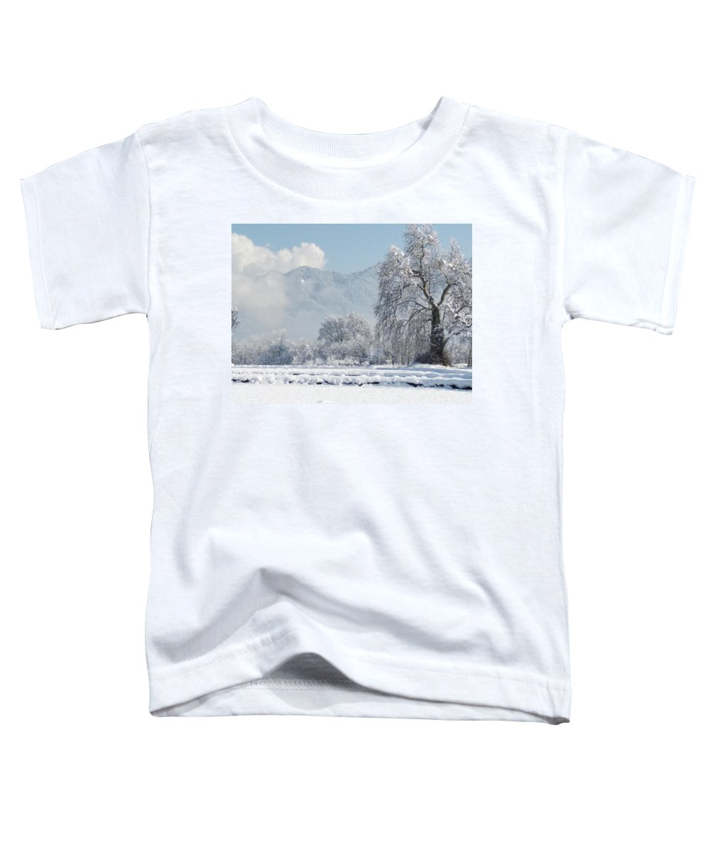 Toddler T-Shirt featuring the photograph The Snow Story by Jacob