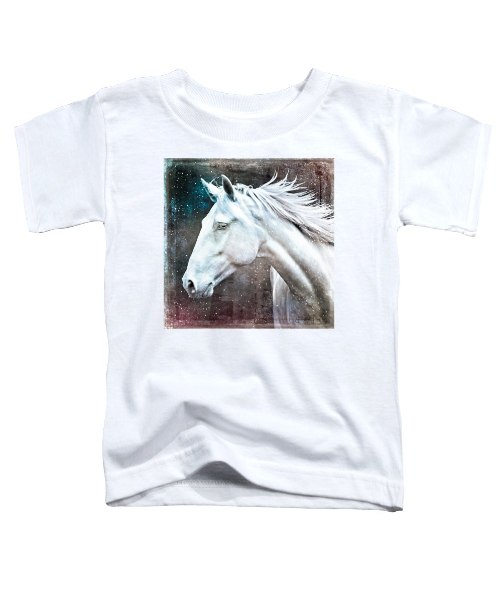 Horse Toddler T-Shirt featuring the digital art A Pale Horse by Linda Lee Hall