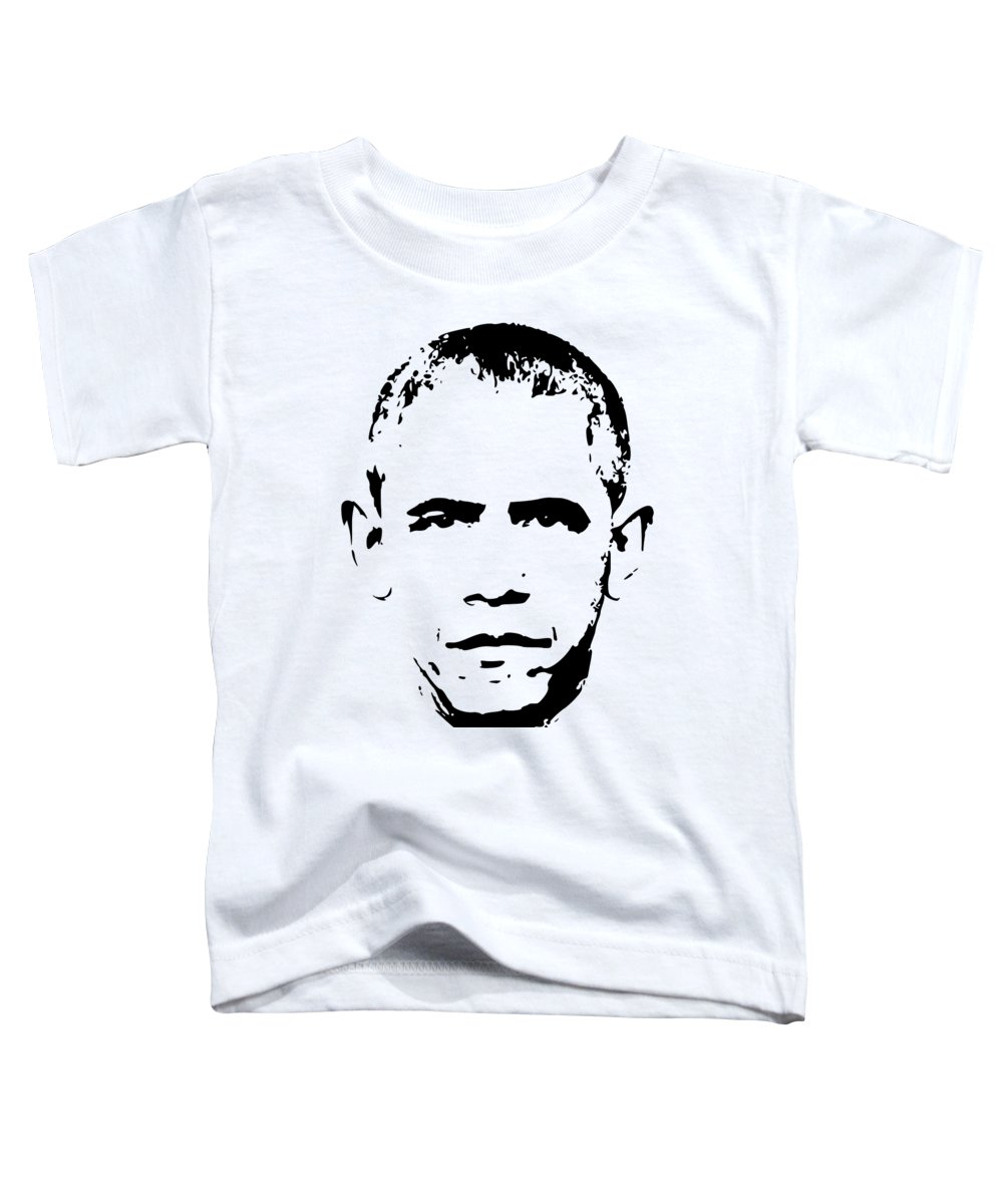 Obama Toddler T-Shirt featuring the digital art Barack Obama Minimalistic Pop Art by Filip Schpindel