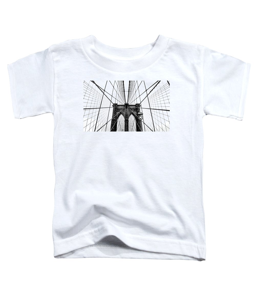 Brooklyn Toddler T-Shirt featuring the photograph Brooklyn Bridge Web by Nicklas Gustafsson