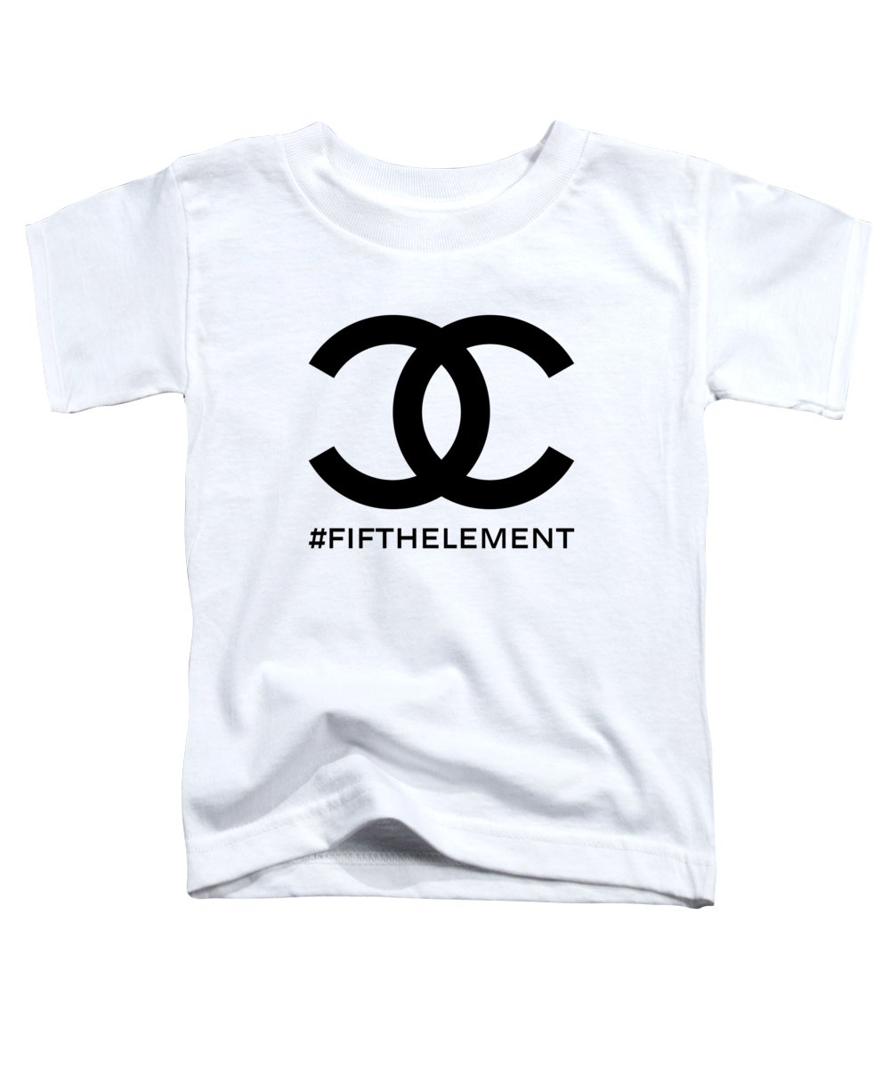 Chanel Toddler T-Shirt featuring the painting Chanel Fifth Element-1 by Nikita
