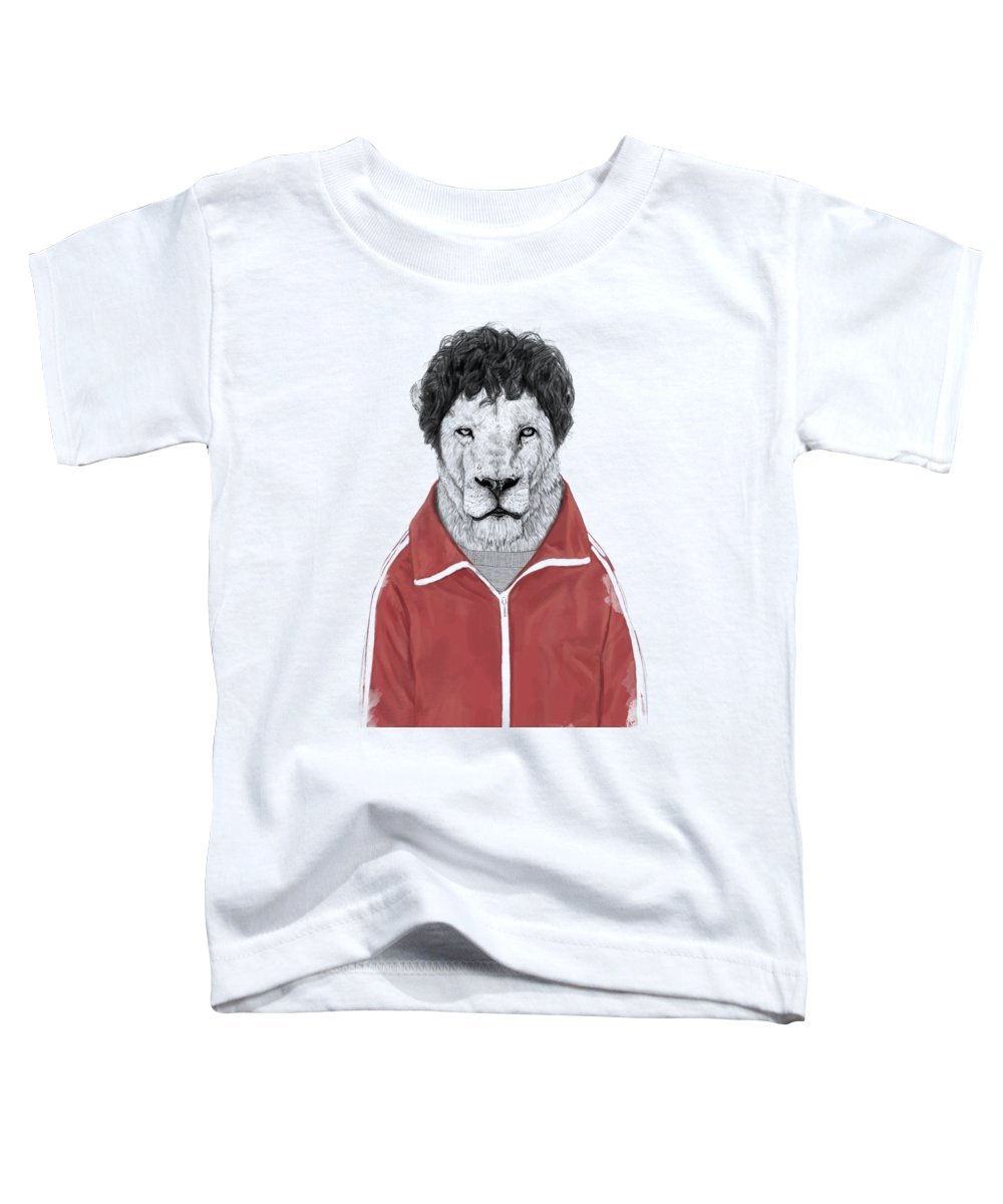Lion Toddler T-Shirt featuring the drawing Chas by Balazs Solti