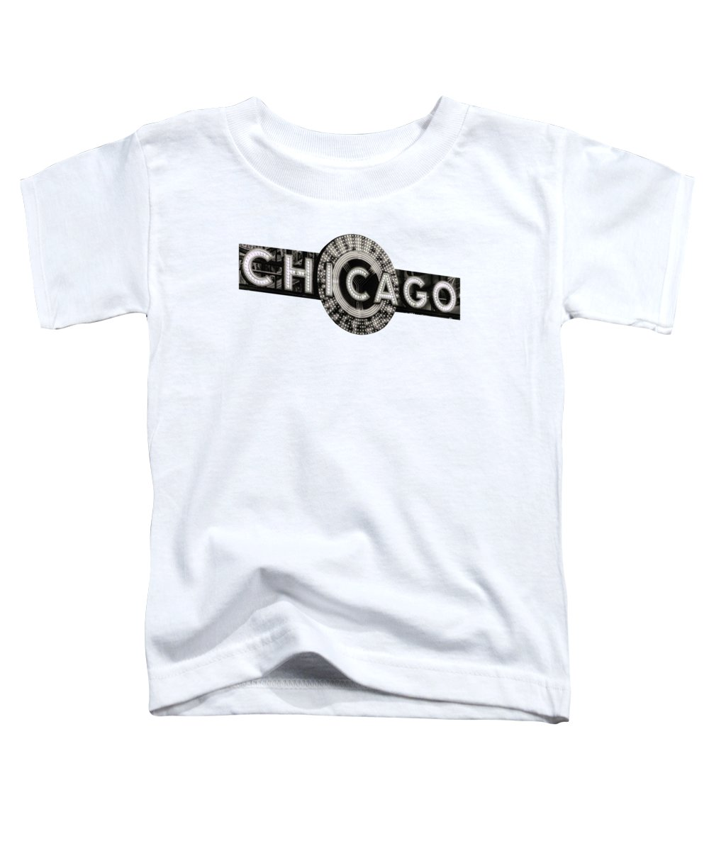 Chicago Toddler T-Shirt featuring the photograph Chicago Theater Marquee - T-shirt by Daniel Hagerman
