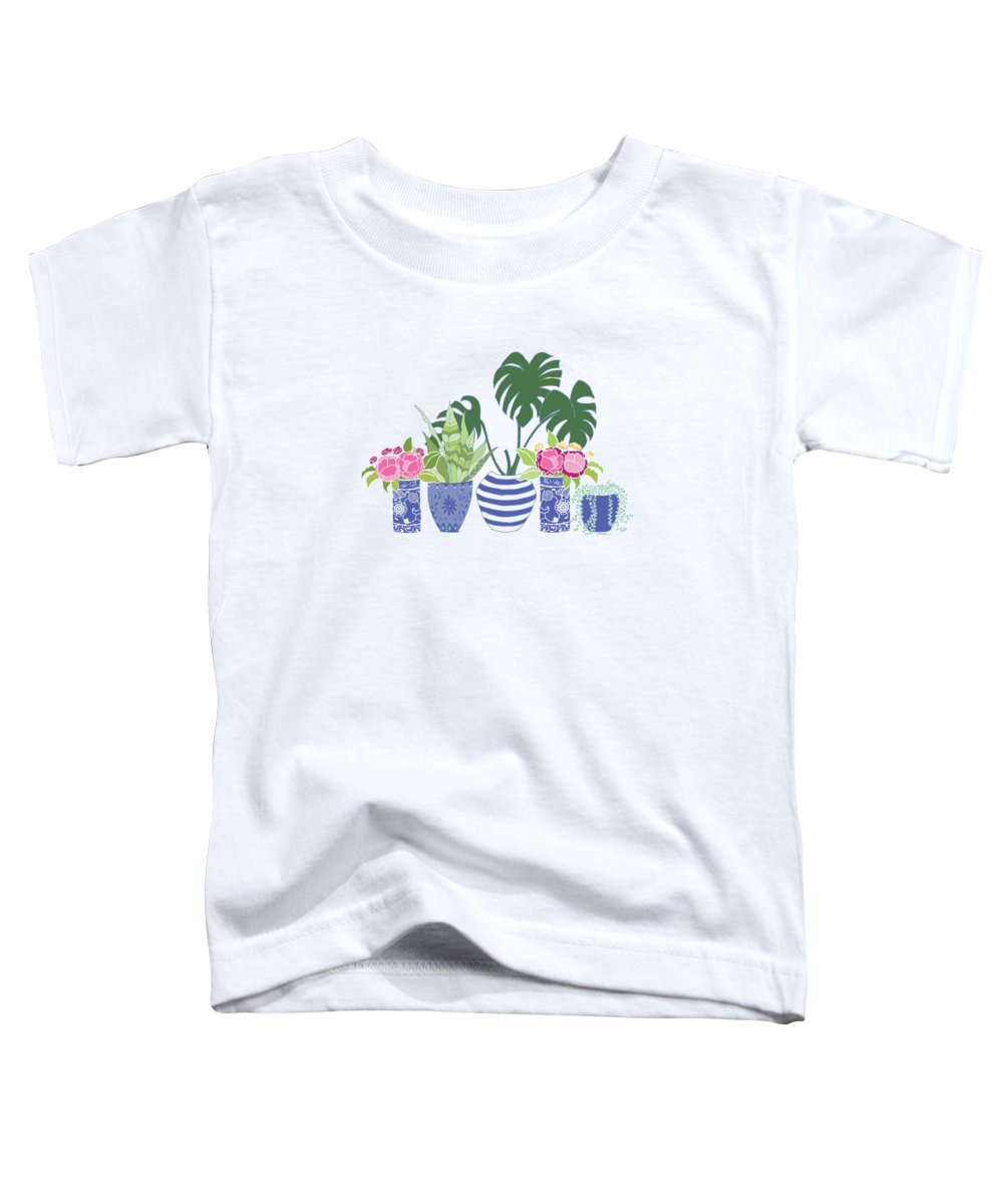 Peony Digital Art Toddler T-Shirts