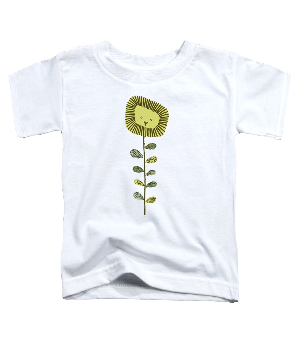 Lion Toddler T-Shirt featuring the drawing Dandy by Eric Fan