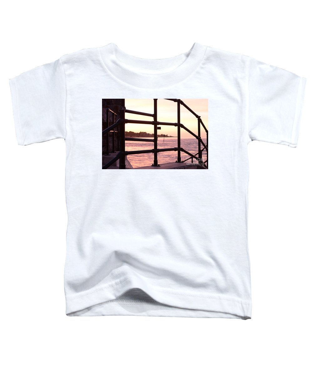 Railings Toddler T-Shirt featuring the photograph Early Morning Railings by Andy Thompson