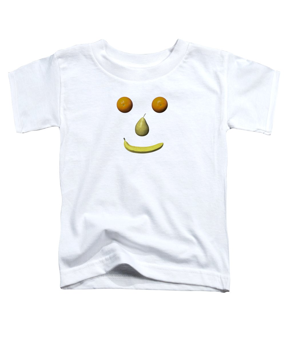 Fruit Toddler T-Shirt featuring the digital art Feeling Fruity Smile Png by Betsy Knapp