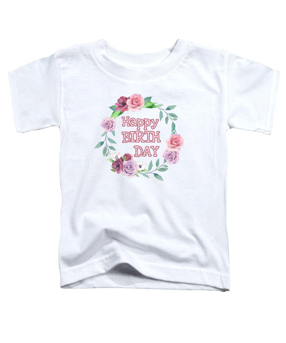 Happy Birthday Toddler T-Shirt featuring the digital art Happy Birthday by Paola Baroni