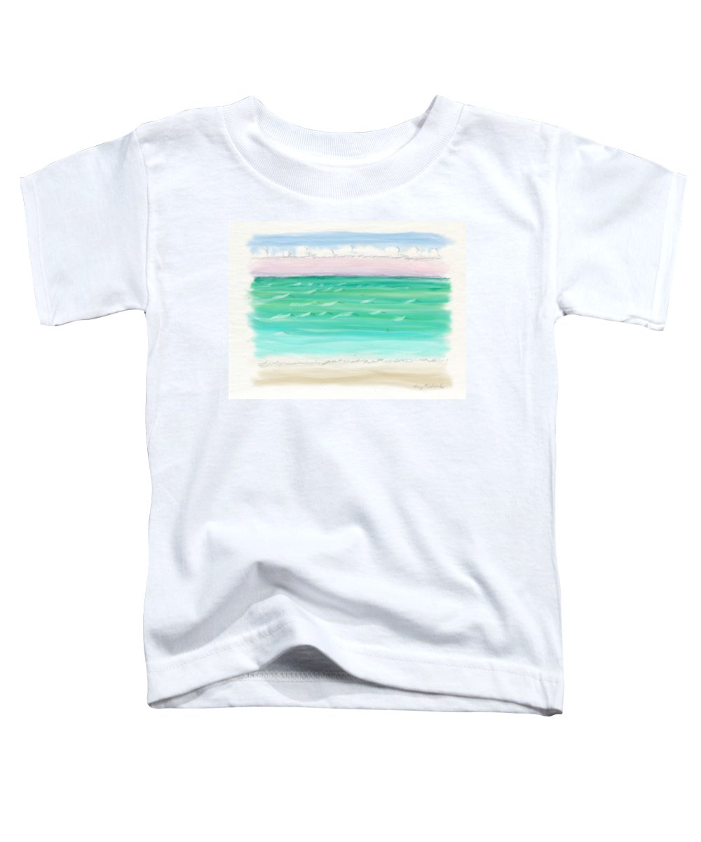 Impressionistic Mixed Media Toddler T-Shirts