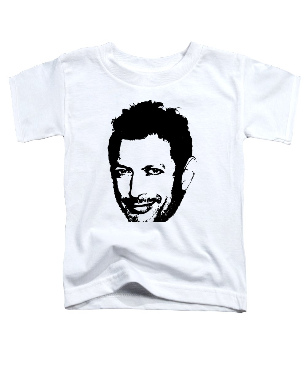 Jeff Goldblum Toddler T-Shirt featuring the digital art Jeff Goldblum Minimalistic Pop Art by Filip Schpindel