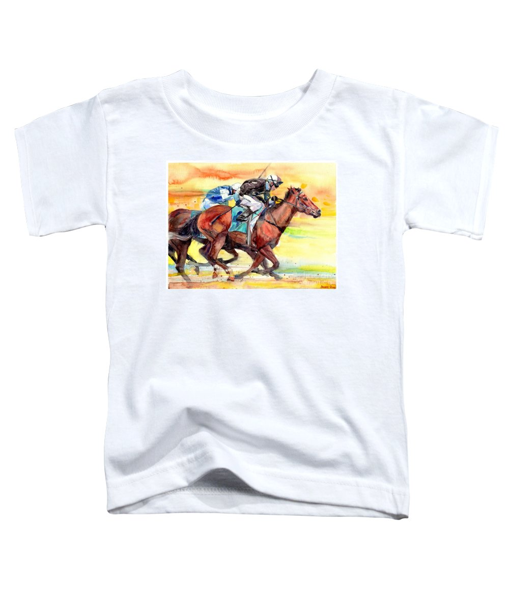 Vitesse Toddler T-Shirt featuring the painting La Vitesse by Suzann Sines