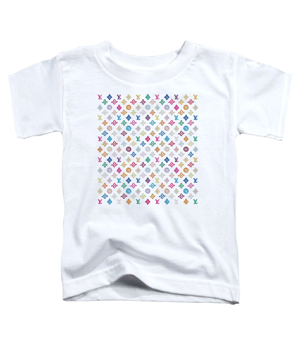 Lv Toddler T-Shirt featuring the painting Louis Vuitton Monogram-1 by Nikita