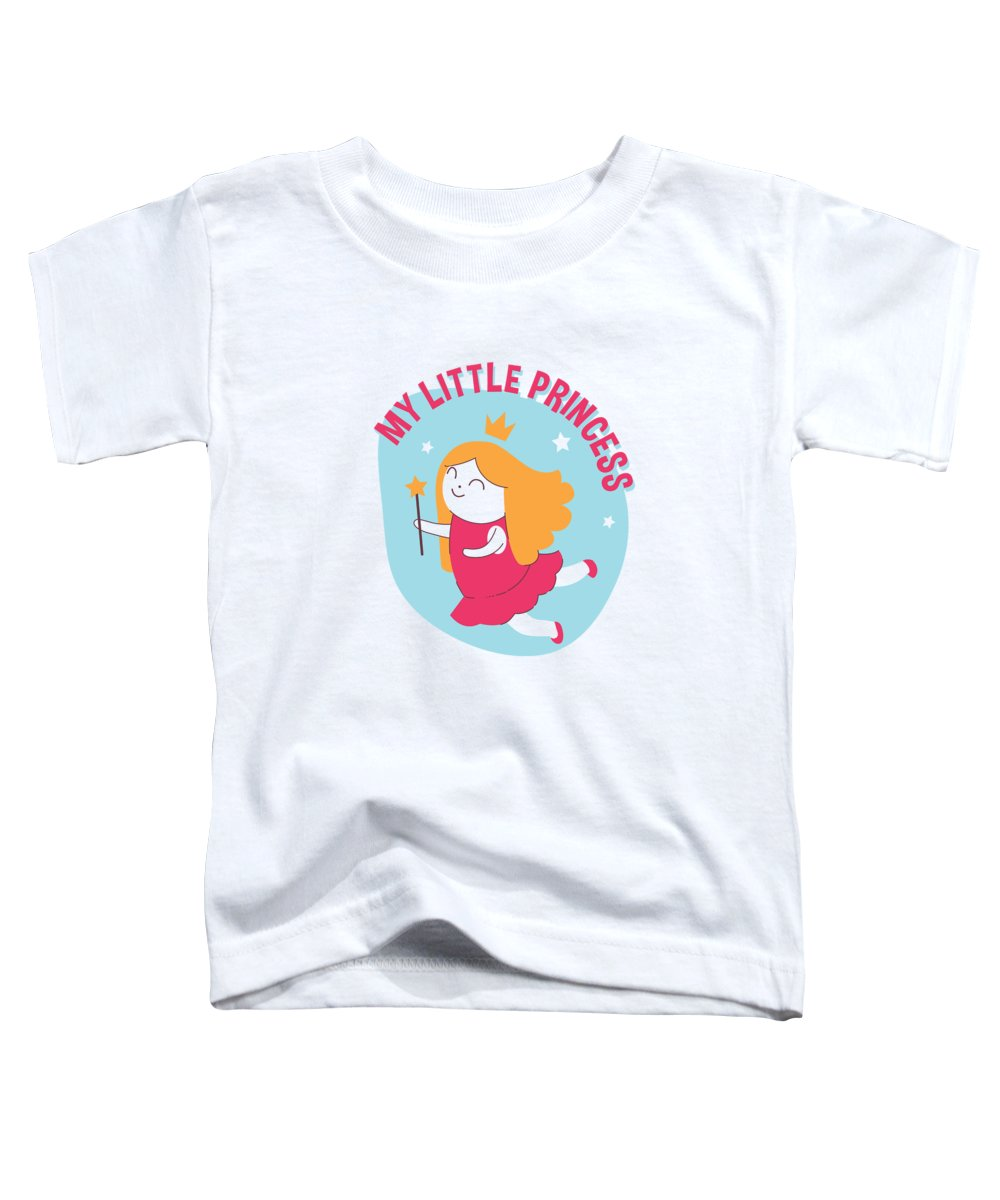 Fairy Toddler T-Shirt featuring the digital art My Little Princess Magical Fairy Wand by Passion Loft