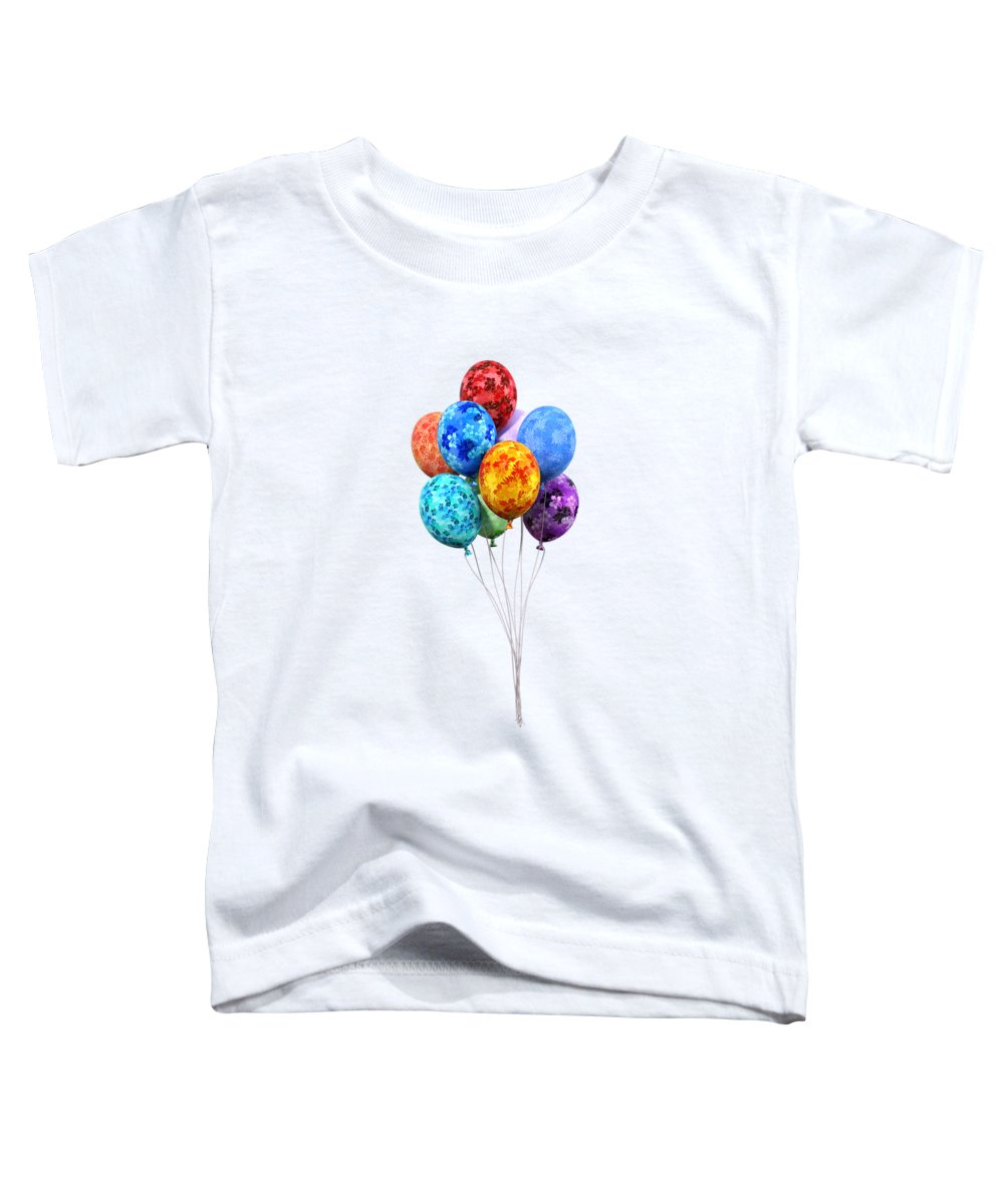 Balloon Toddler T-Shirt featuring the digital art Oh Happy Day by Betsy Knapp