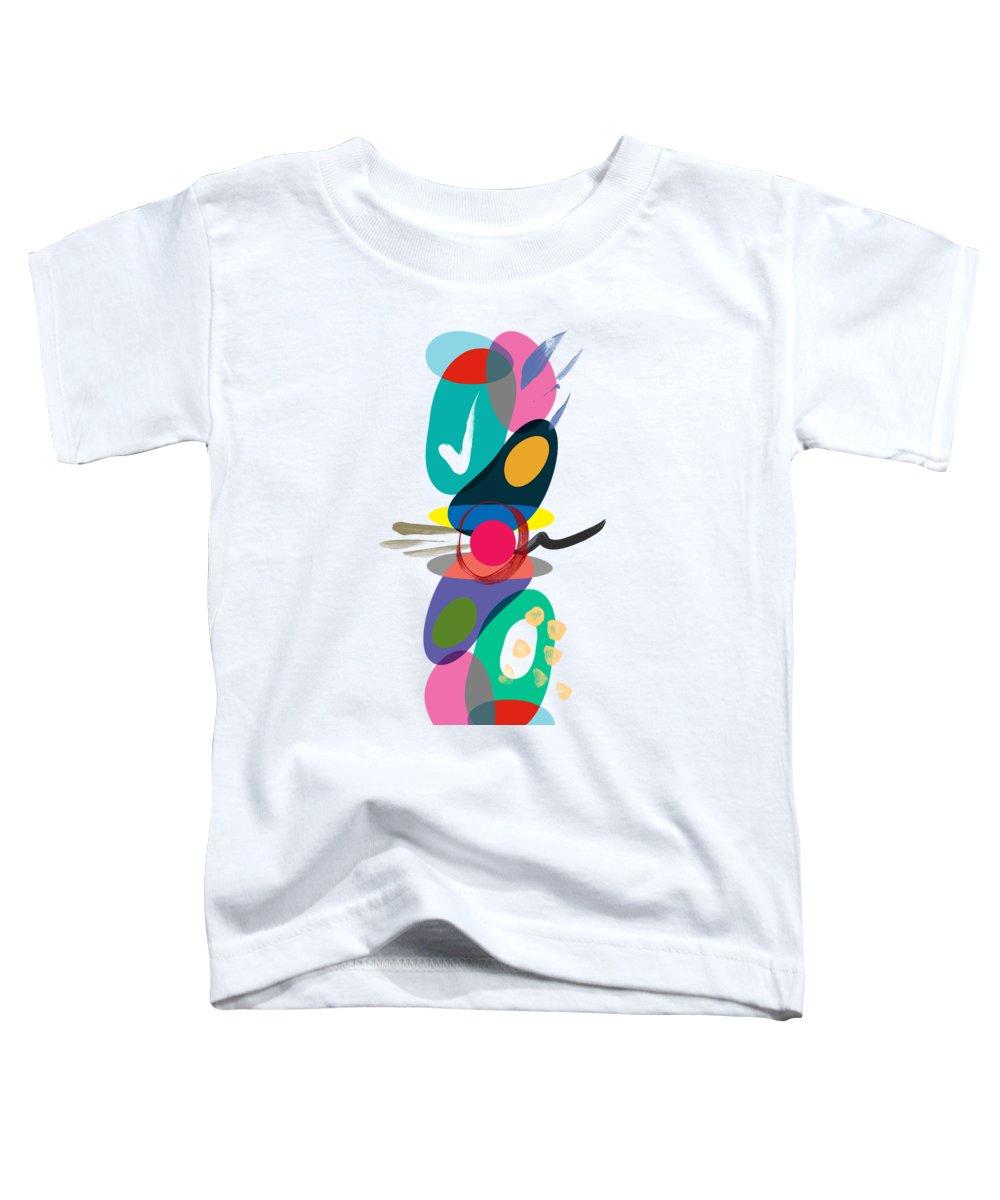 Flamingo Flower Toddler T-Shirts