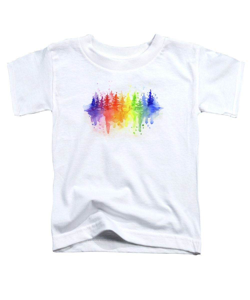 Forest Toddler T-Shirt featuring the painting Rainbow Forest by Olga Shvartsur