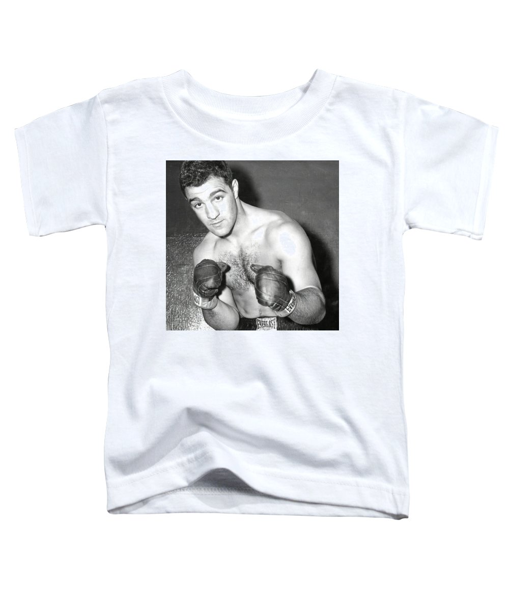 494e4f2b Rocky Marciano In Training Gloves C. 1953 Toddler T-Shirt for Sale by  Daniel Hagerman
