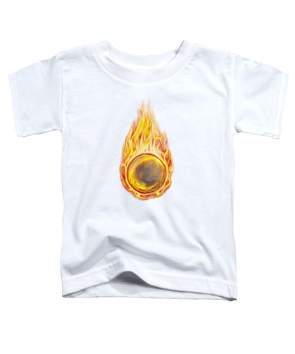 Fireball Toddler T-Shirt featuring the drawing Sorcerer by Aaron Spong