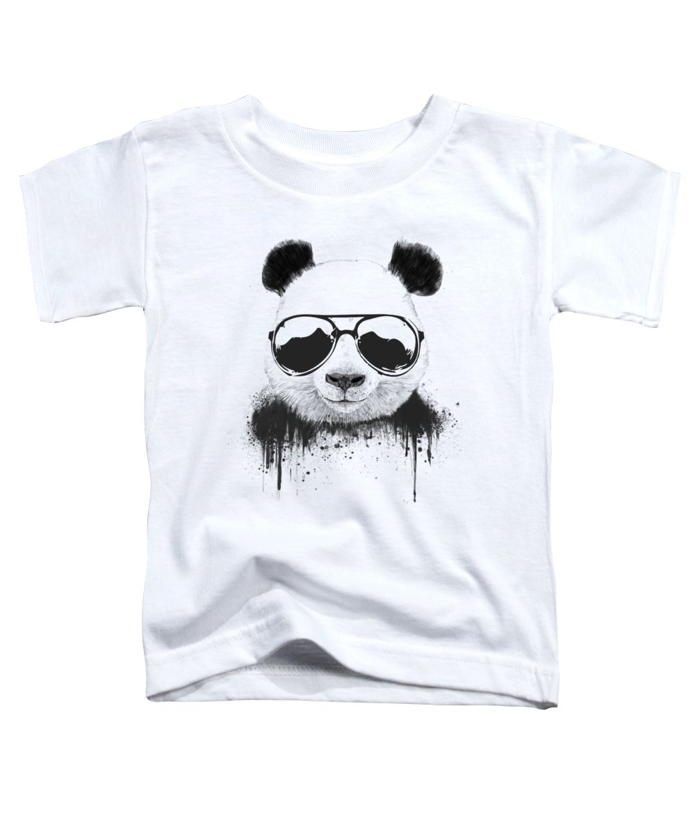 Panda Toddler T-Shirt featuring the mixed media Stay Cool by Balazs Solti
