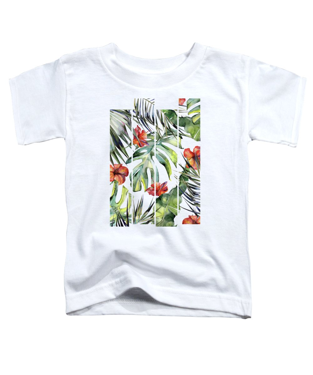 Tropical Toddler T-Shirt featuring the painting Tropical Garden 5 by Magic Dreams