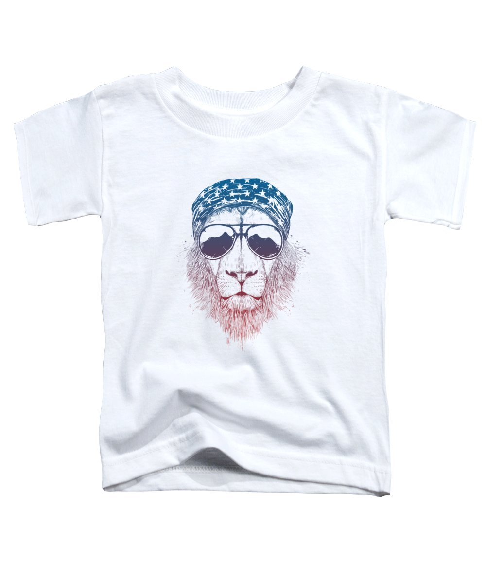 Lion Toddler T-Shirt featuring the drawing Wild lion II by Balazs Solti
