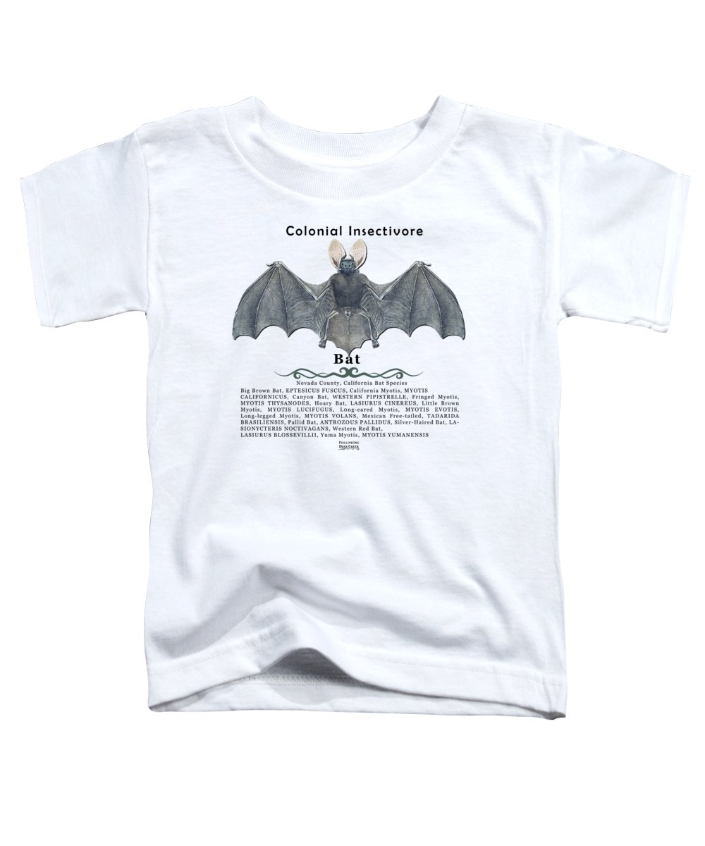 Bat Toddler T-Shirt featuring the digital art Bats Of Nevada County by Lisa Redfern