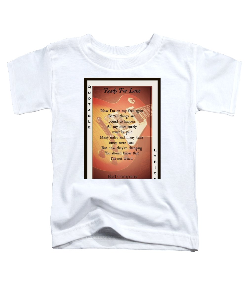 Bad Company Toddler T-Shirt featuring the photograph Ready For Love 2 by David Norman